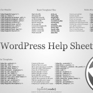 WordPress Help Sheet