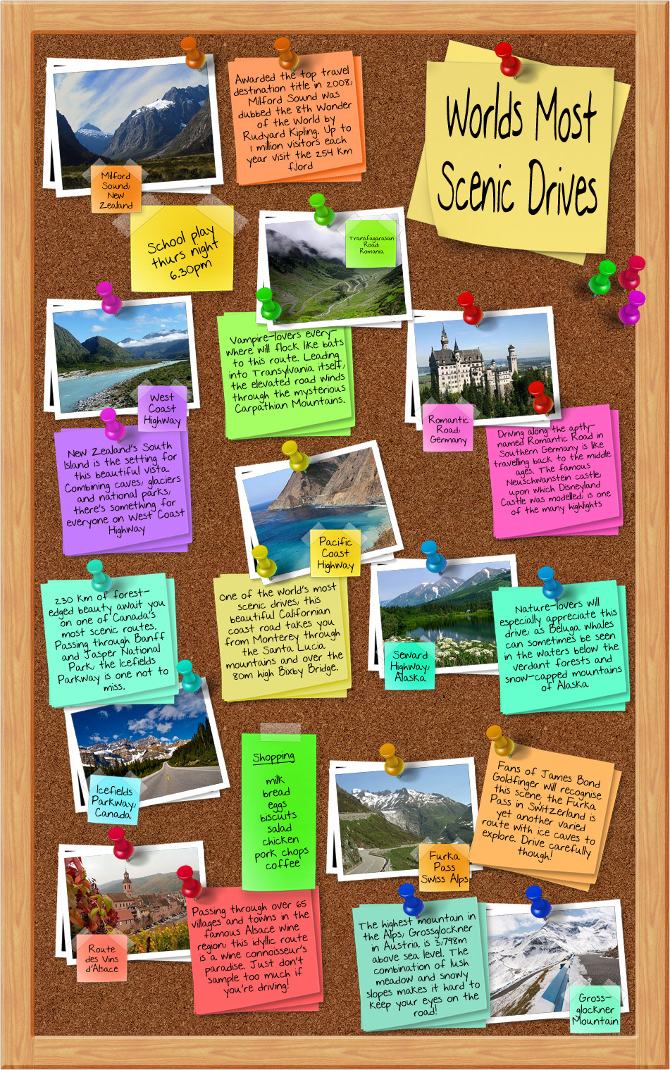 Worlds Most Scenic Placesinfographic