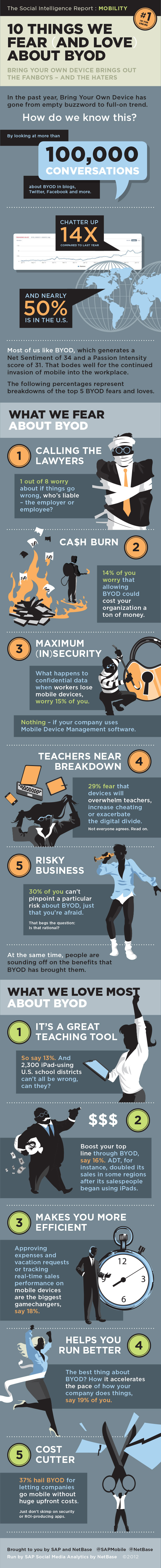 Fear and Love About Byod-infographic