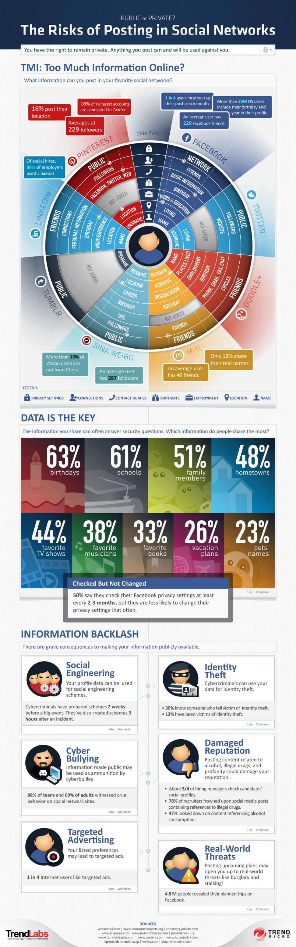Social Networks Privacy Risks-Infographic