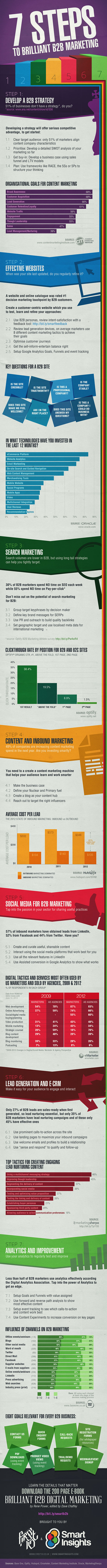 B2B Marketing Plan Outline-Infographic