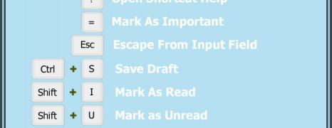 Gmail Shortcuts Cheat Sheet