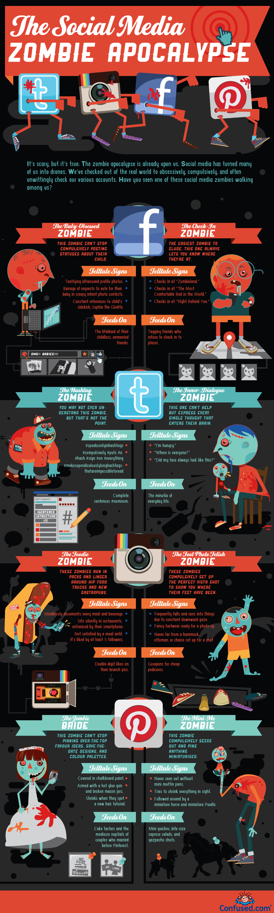 Social Media Zombies-Infographic