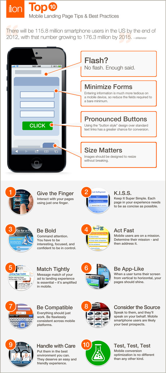 Mobile Landing Page TipsInfographic