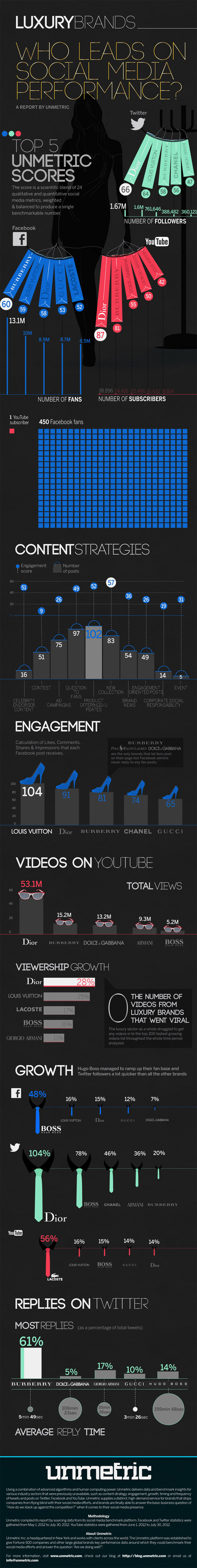 Luxury Brands Social Media-Infographic
