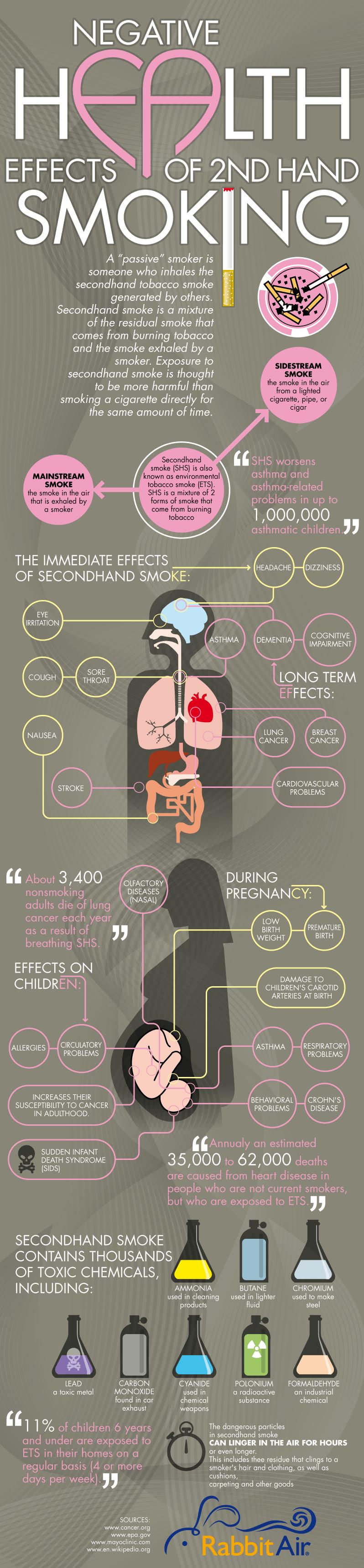 Second Hand Smoke DangersInfographic