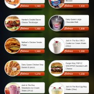 Fast Food Calories Chart