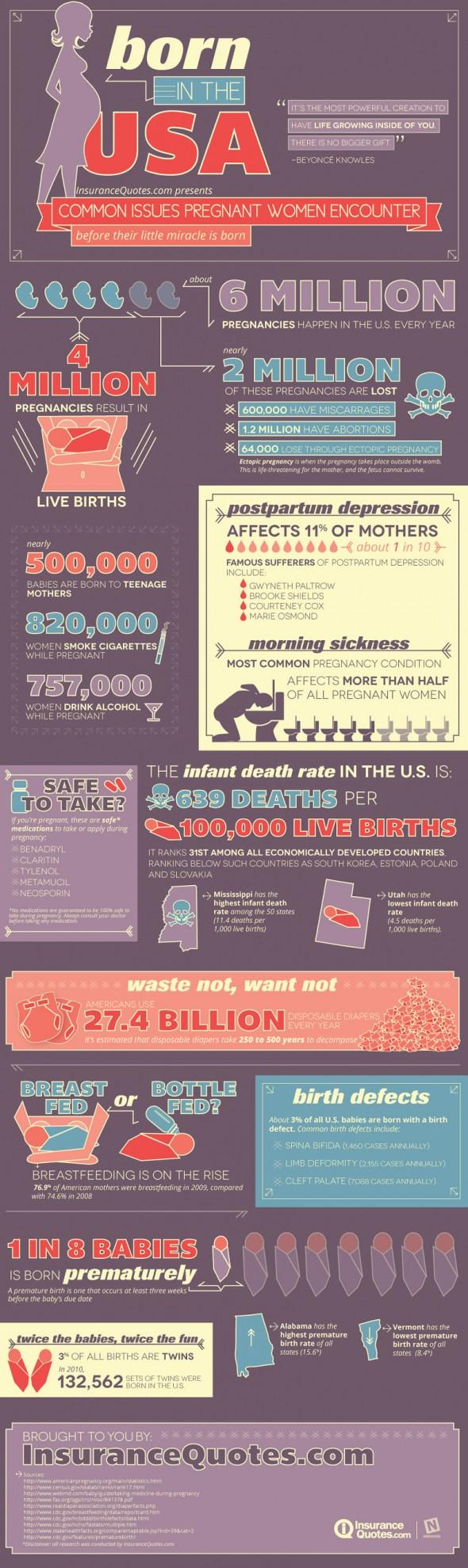 US Pregnancy Statistics-Infographic