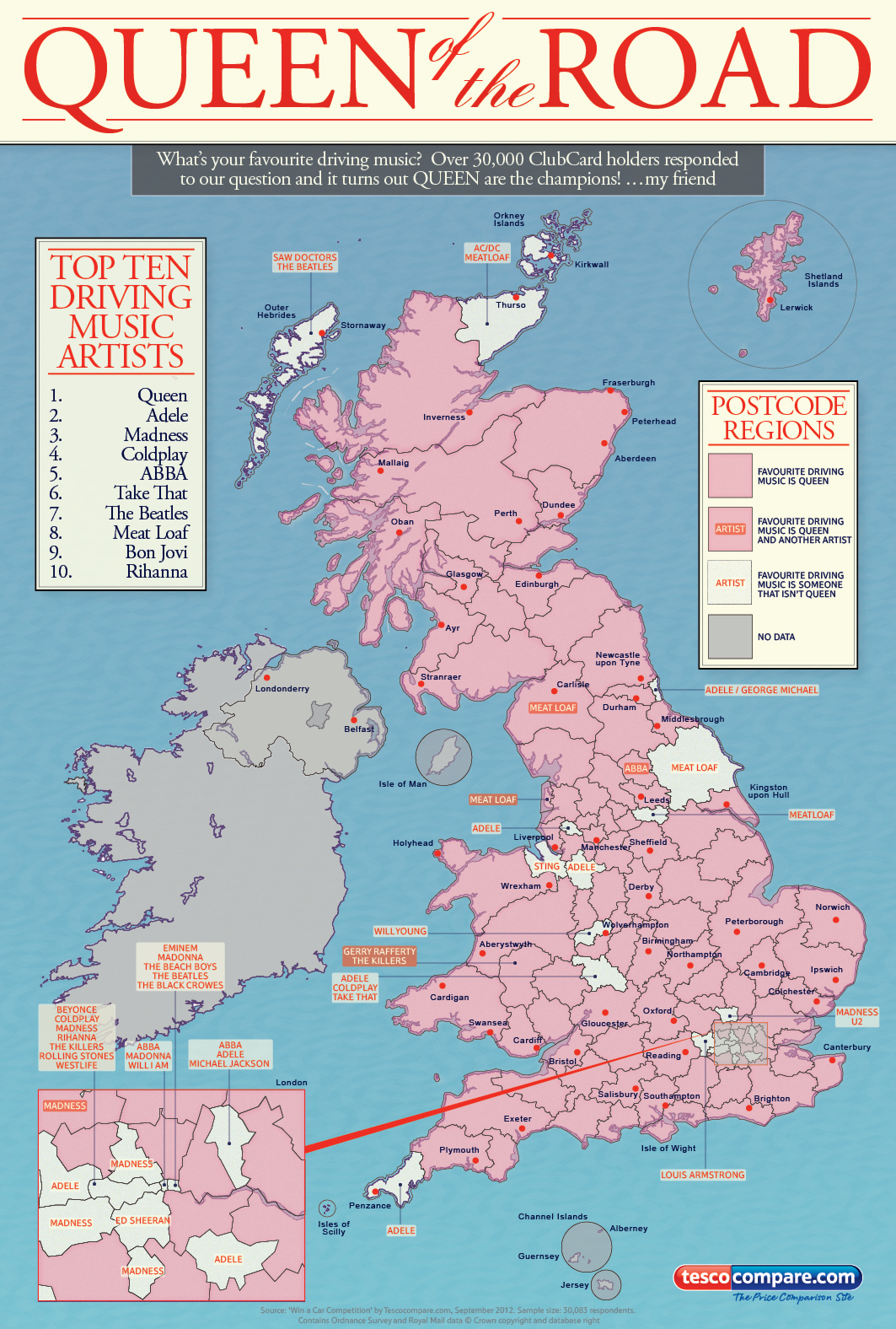 UK Top Driving Music-Infographic