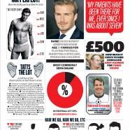 Lights on David Beckham