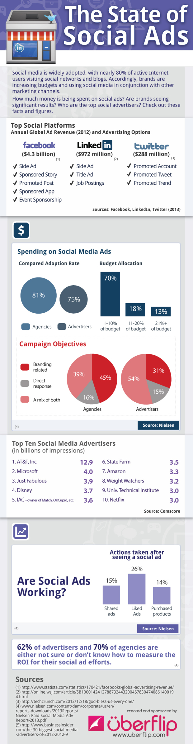 Social Media Ads Breakdown-Infographic