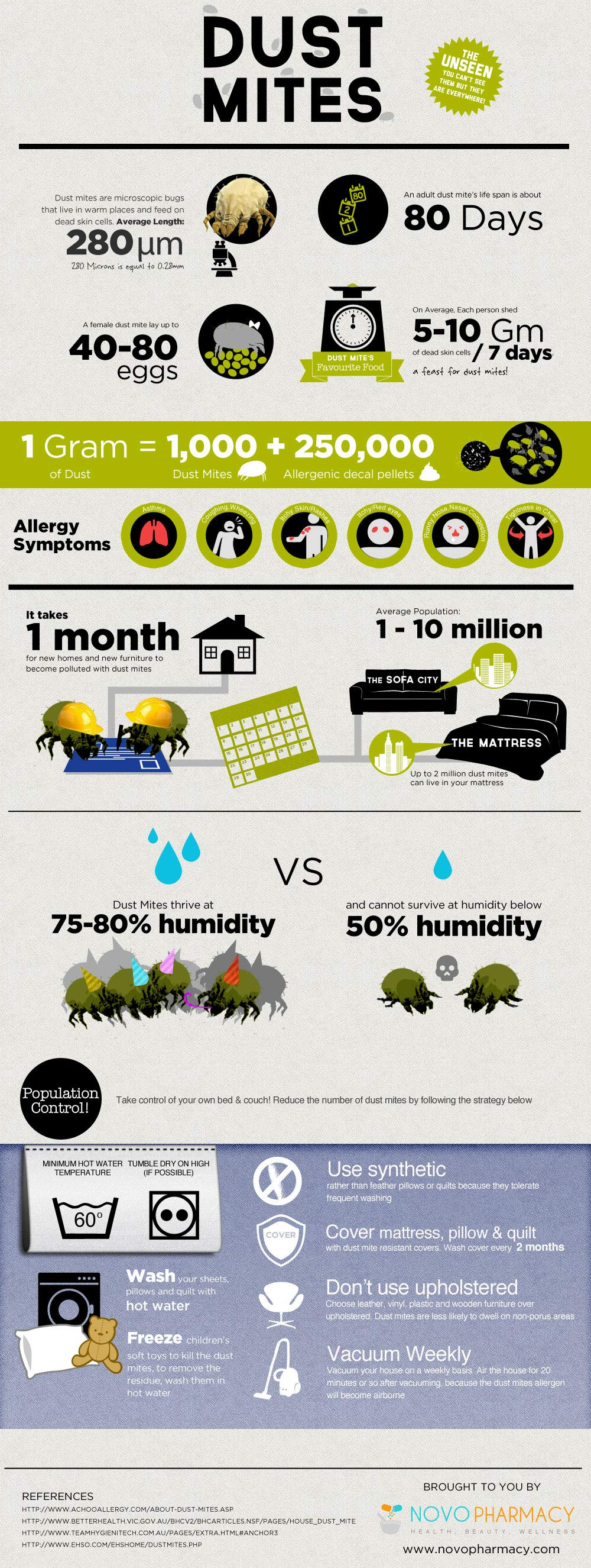 Dust Mite Protection-Infographic