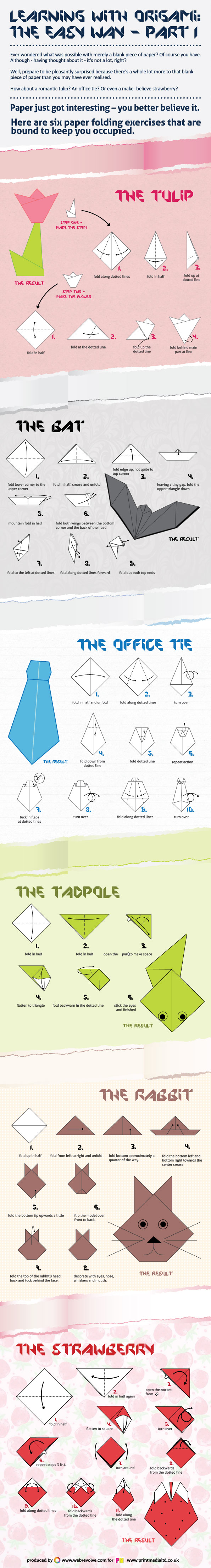 6 Easy Origami-Infographic