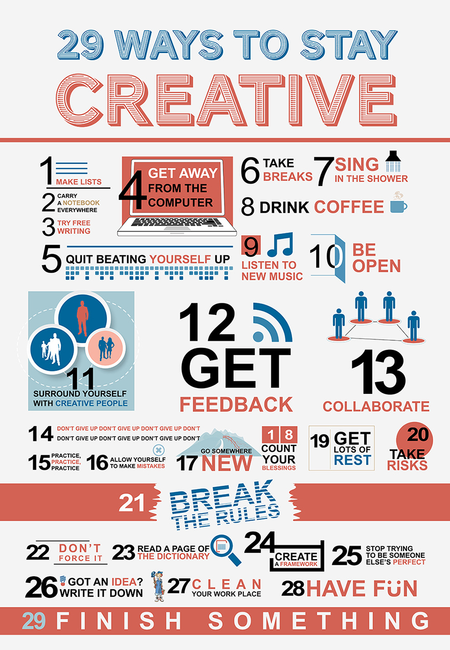 29 Creativity Boosters-Infographic