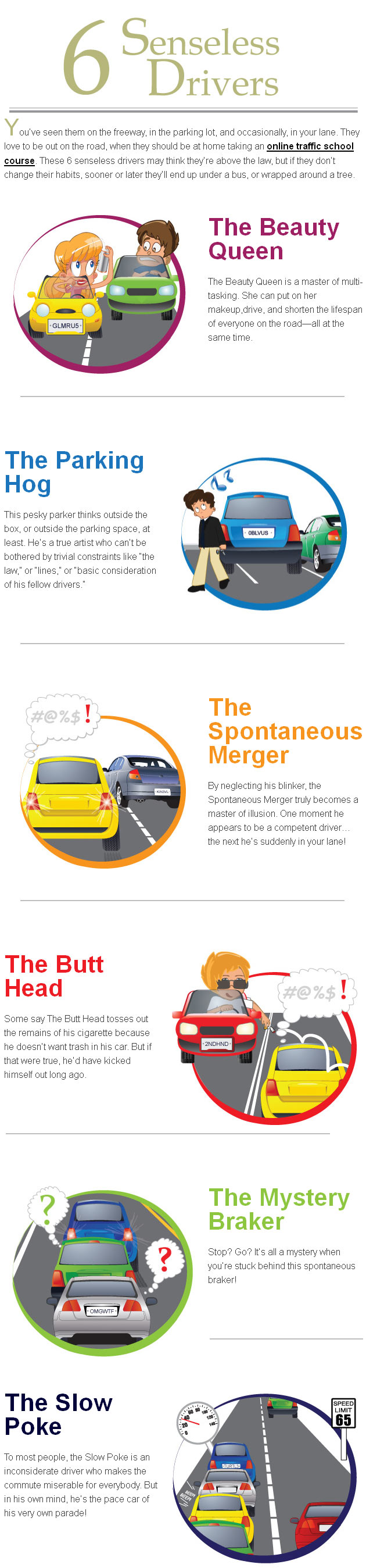 6 Dangerous Drivers-Infographic