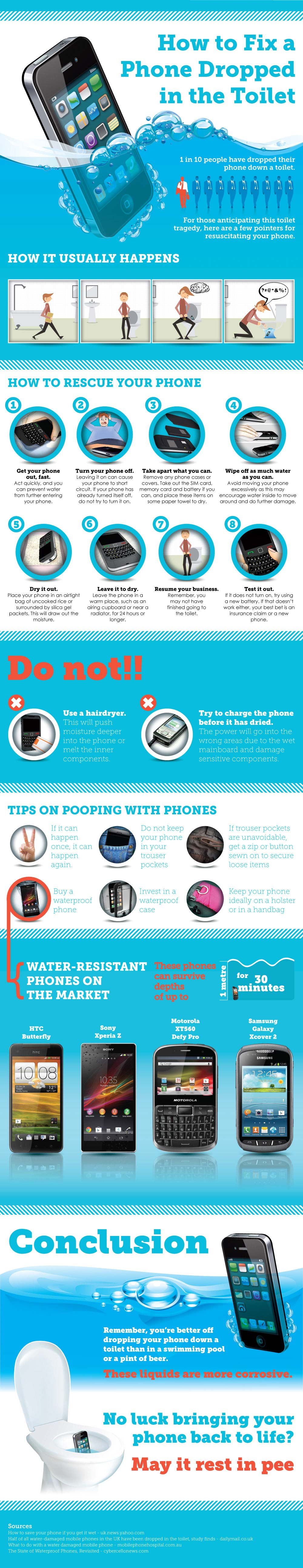 Phone in Toilet Bowl-Infographic