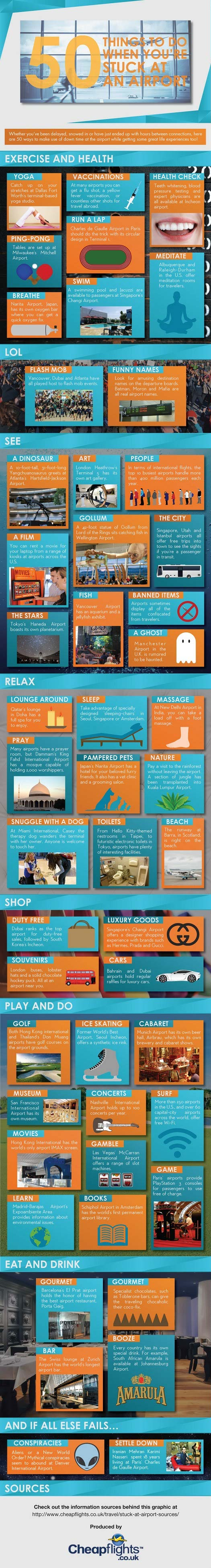 Kill Time at Airport-Infographic
