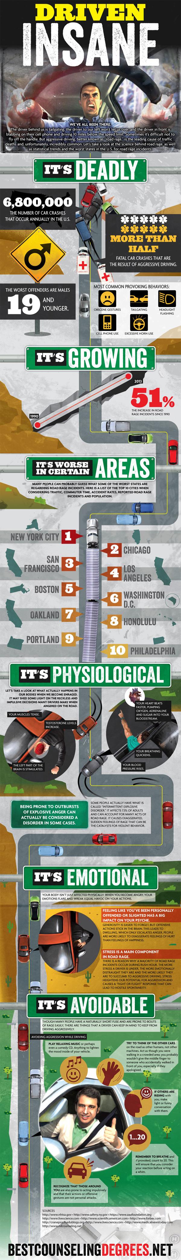 Aggressive Driving Statistics-Infographic