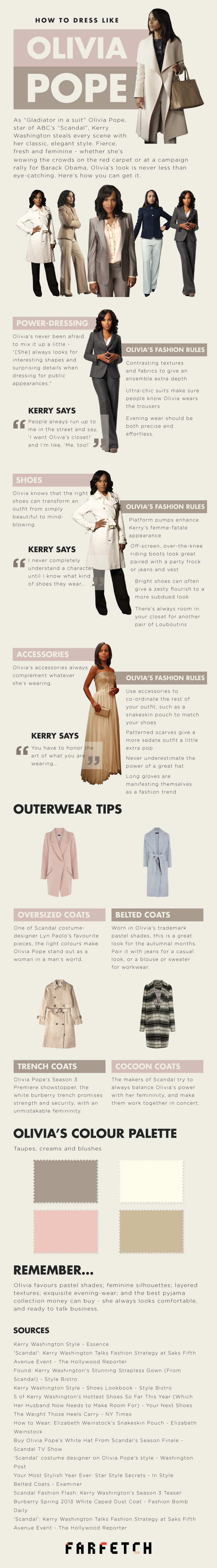 Olivia Pope Style Guide-Infographic