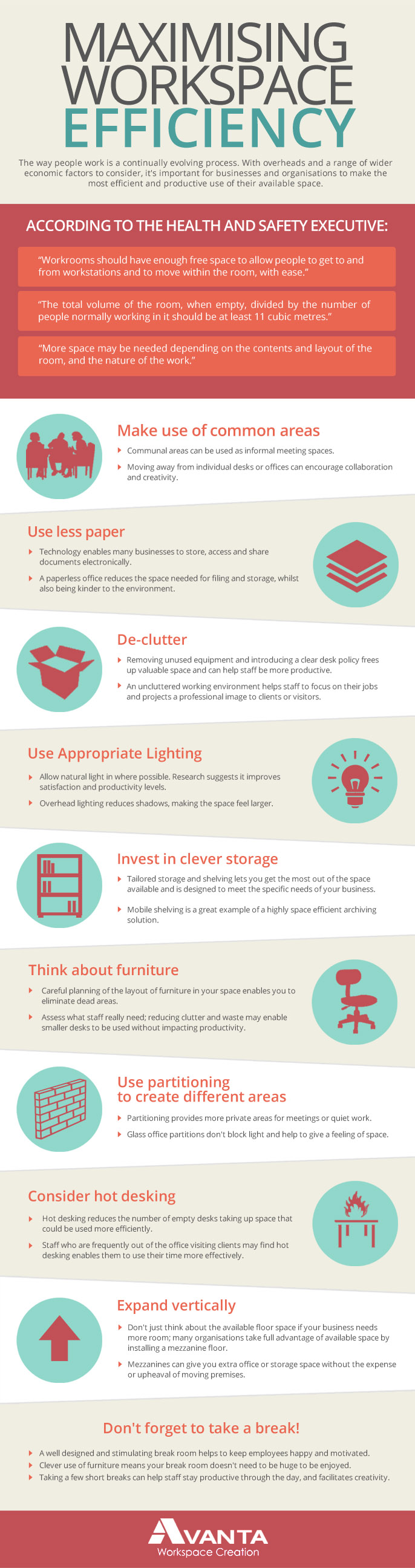 Workplace Efficiency Tips-Infographic