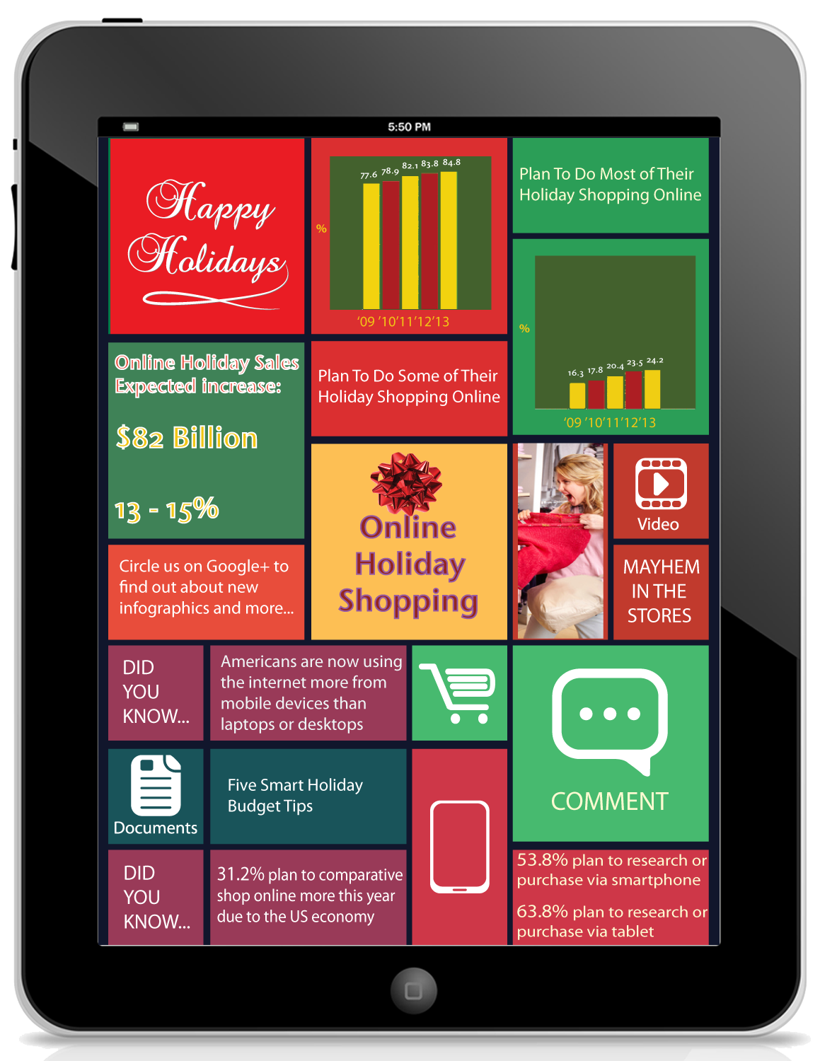 Online Holiday Shopping 2013 infographic